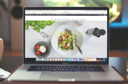 Restaurant website on a laptop