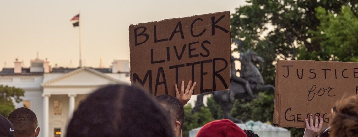 black lives matter protesters outside the white house