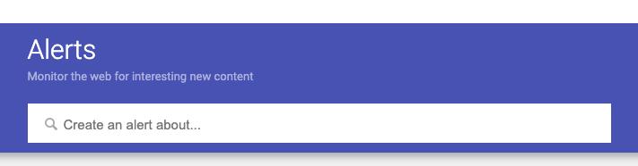 Create a google alert