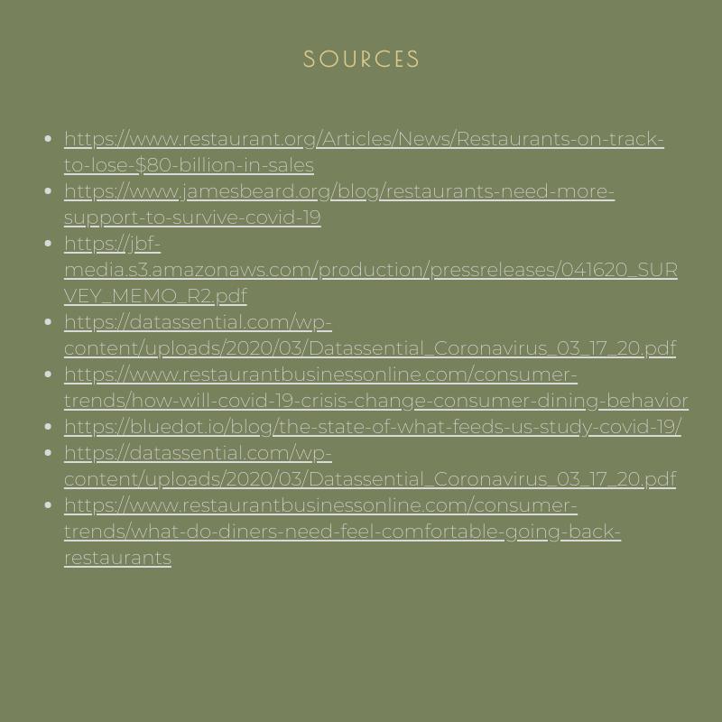 Source list for restaurant industry statistics