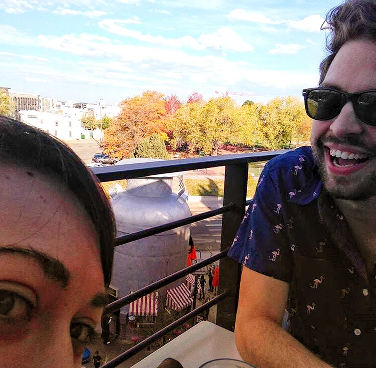 Kate and Kirby on the roof at Linger in Denver