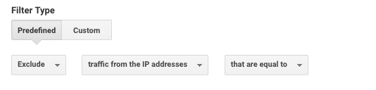 Google Analytics filter to exclude your IP address