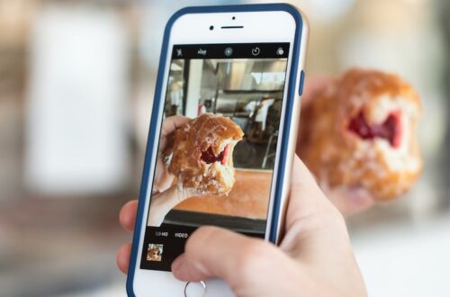 taking a photo of a baked treat to post online as user generated content