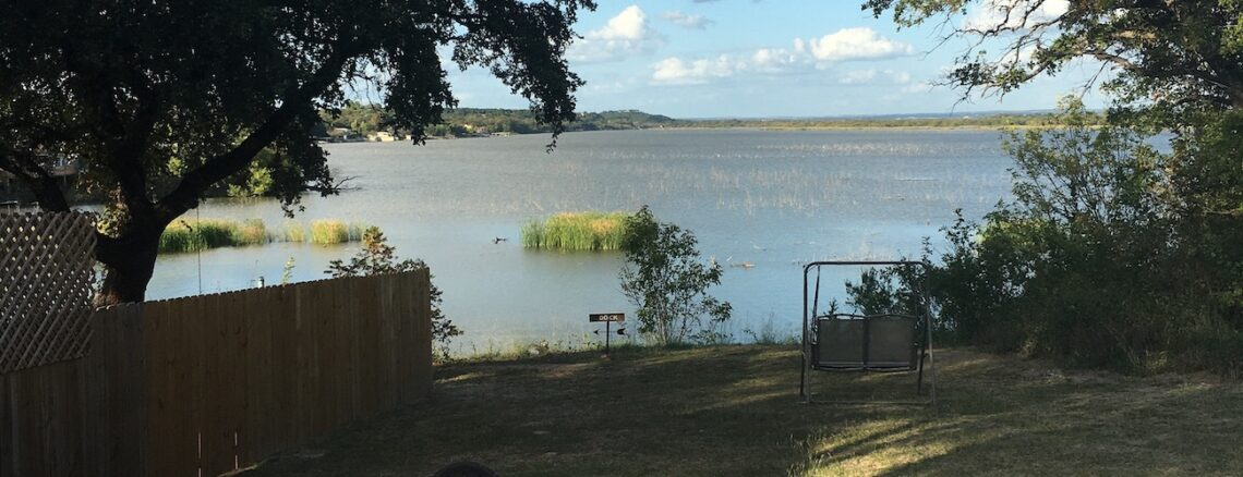 Lake view in Granbury, Texas where we learned a lesson about delivering on your promises