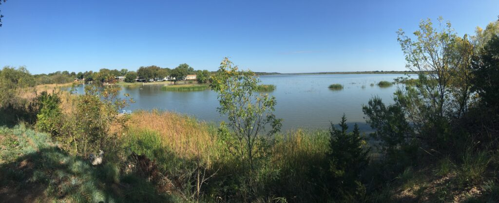 The view of Lake Granbury from our disappointing Airbnb