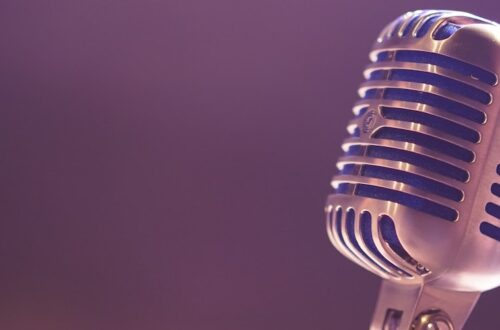 old fashioned microphone to represent the voice of the customer