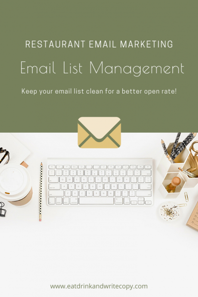 Email List Management for Restaurants and Hospitality