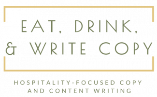 Eat, Drink, and Write Copy Logo